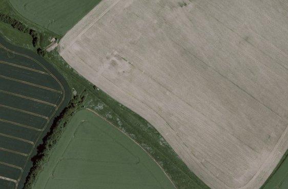 Luftbild der Stiftungsflächen an der Carbäk