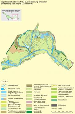 Vegetationskarte (Bild © K. Zscheile/Demmler Verlag)