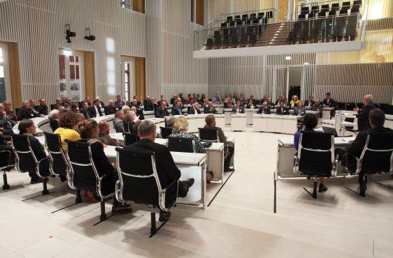 Die Festveranstaltung am Ort der Gründung im Landtag
