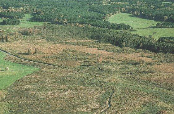 Blick von Südwesten auf den Nordteil des Gebietes mit dem Plöwenschen Abzugskanal (Bild mit freundlicher Genehmigung © Demmler Verlag)