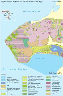 Vegetationskarte der Halbinsel Groß Zicker (Bild © K. Zscheile/Demmler Verlag)