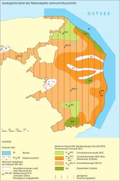 Geologische Karte (Bild © D. Nagel/Demmler Verlag)