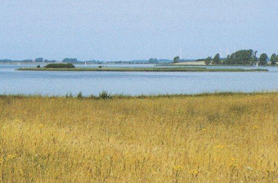 Blick von Osten auf die Insel Beuchel (Bild mit freundlicher Genehmigung © Demmler Verlag)